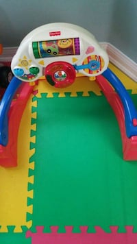 baby's blue and red activity gym