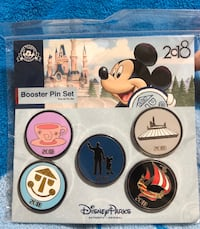 Authentic Disney Parks Collector Pin Set