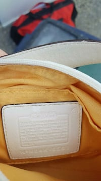 Coach white and brown leather wallet Edmonton