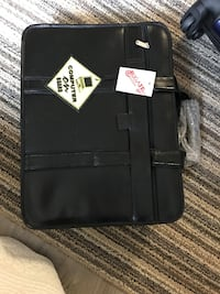 Leather laptop computer bag