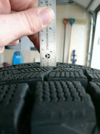 Dunlop wintermaxx snow tires on rims. 215 70 r16