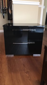 black wooden 2-drawer chest Calgary, T2Z 3M4