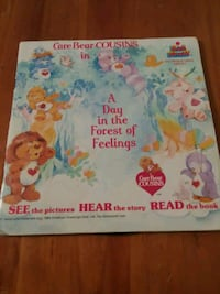 Care Bear book and 45 record