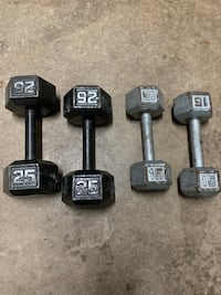 2 Dumbbell Sets (25 lb and 15 lb) Burke, 22015