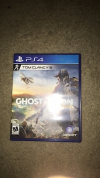 Sony PS4 Tom Clancy's Ghost Recon game case Shenandoah Junction, 25442