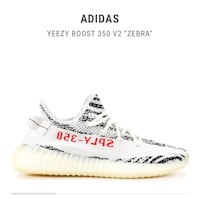 white and red Adidas Yeezy Boost 350 v2 Nashua, 03060