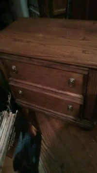 Wooden end table 2 drawer STURDY Erie
