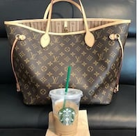 brown Louis Vuitton Monogram leather tote bag 788 km