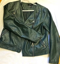 Black leather zip-up jacket Domaine-du-Boisé, J7M 1E5