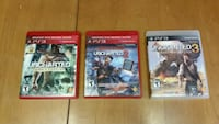 Uncharted 1, 2, and 3 (PS3) Cambridge, N1R 8H5