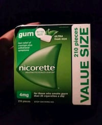 Selling $25 obo each 6 boxes of Nicorettes