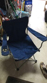 blue and gray metal framed camping chair 33 km