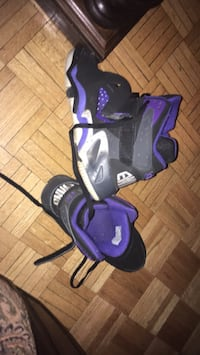 black-and-purple inline skates Toronto, M2N 7K2