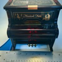 VTG Lacquer   Piano Musical Jewelry Box-2 Jewelry drawers-See All Pics Norman, 73071