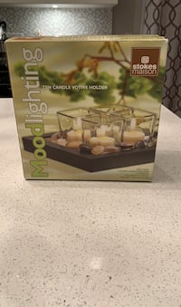 Stokes new in box Moodlighting zen candle votive holder