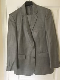 Stone grey notched-lapel suit jacket fits young boys age 15-18 very rarely worn