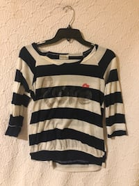 White and navy striped shirt with mid length sleeves Lacey, 98503