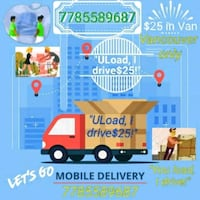 $25LET'S GO DELIVERY!ANYWHERE WITHIN Vancity 24/7! Vancouver