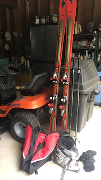 MUST GO TODAY Men's  K2 78 Ski's, Tecnica Boots, Poles, Bag and Gloves package Niantic, 06357