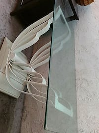 Very  heavy iron table glass top two ppl to lift . North Las Vegas, 89030