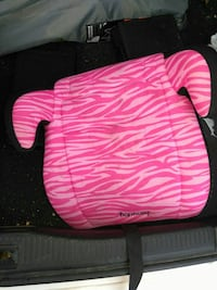 pink and white zebra pattern Harmony backless booster seat Hopkinsville, 42240