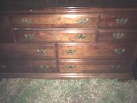 Solid wood dresser with mirror . 252 mi