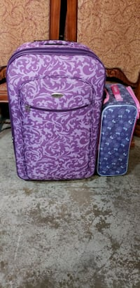 large purple suitcase only