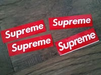 4 supreme stickers Milton, L9T 0Y4