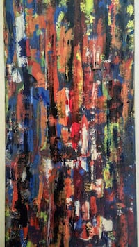 blue, red, and yellow abstract painting Toronto, M1E 2S8