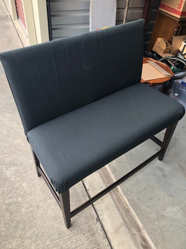 Navy colored bar bench