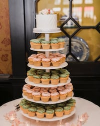 Cake and cupcake stand or tier