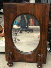 Vintage Brown wooden framed wall mirror Mooresville, 28117