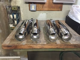 Brand NEW Chrome Dual Mufflers