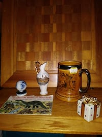 brown and black ceramic beer stein New Jersey, 08857