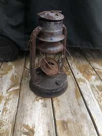 Vintage railroad lantern holiday rustic