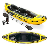 Kayak – new / inflatable. Yellow color  Columbus