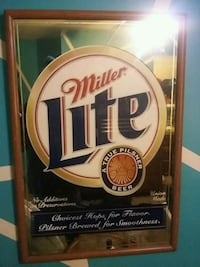 Miller Lite poster with brown frame St. Peters, 63376