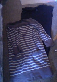 black and white striped pullover hoodie Victoria