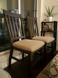 Two wooden dining chairs Mississauga, L5B 0G4