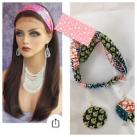African fabric headband and earrings  Mississauga, L5K 2R3