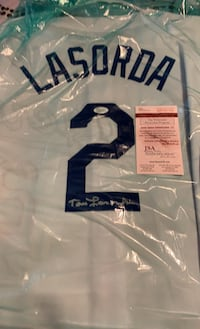 Tommy Lasorda autographed jersey