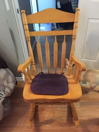 Brown wooden windsor rocking chair Calgary, T2A 6V2