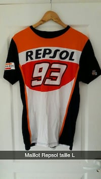 Maillot Repsol 93 rouge et blanc Grande-Synthe, 59760