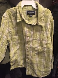 white, gray, and green plaid print Sonoma button-up shirt Stephens City, 22655