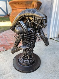 Aliens Metal Sculpture Artwork