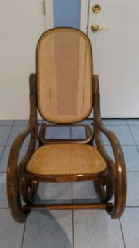 Vintage Thonet Style Cane Bentwood Rocking Chair