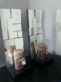 brown wooden framed glass display cabinet Calgary, T2K 1B7