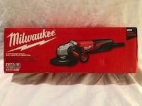 """Brand new in the box Milwaukee 13Amp corded small 5"""" angle grinder with speed dial. Retails for $159  Vacaville, 95687"""