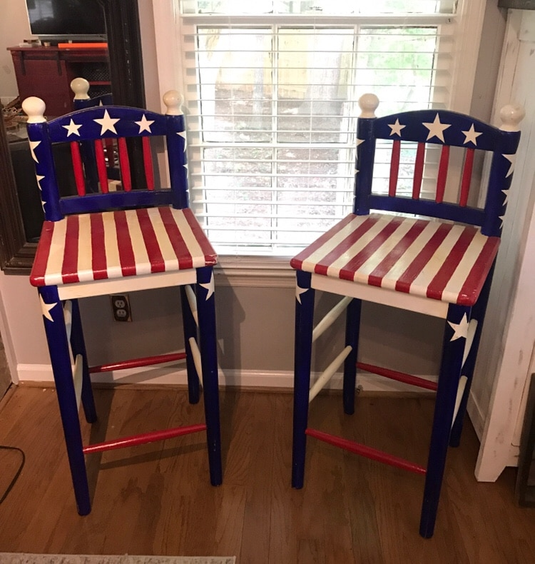 American Flag Chairs