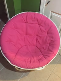 Round pink chair. Perfect for little girl's room. Baltimore